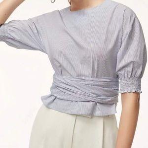 Aritzia Babaton wrap blouse